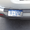 License Plate Holder with straps
