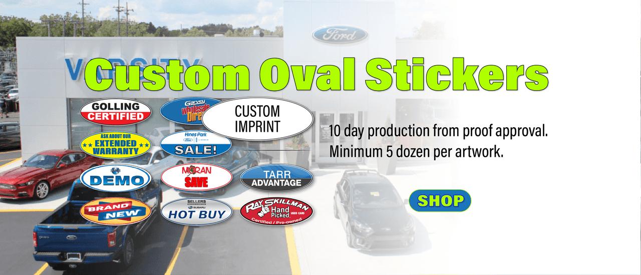 Custom Printed Oval Stickers