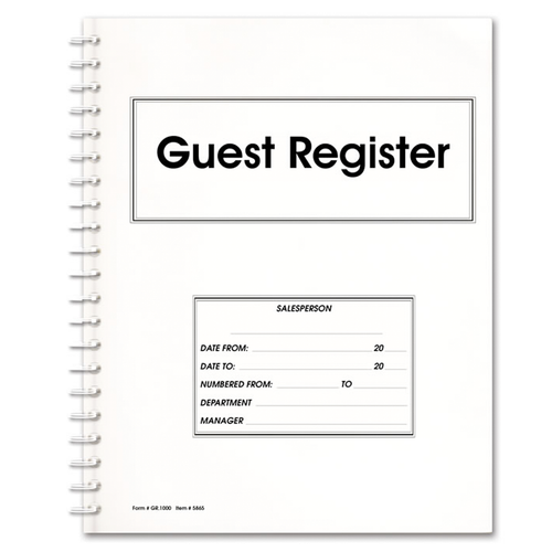 Guest Register Book cover