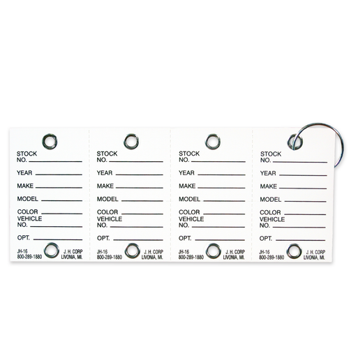 Heavy Duty Card Stock Key Tags