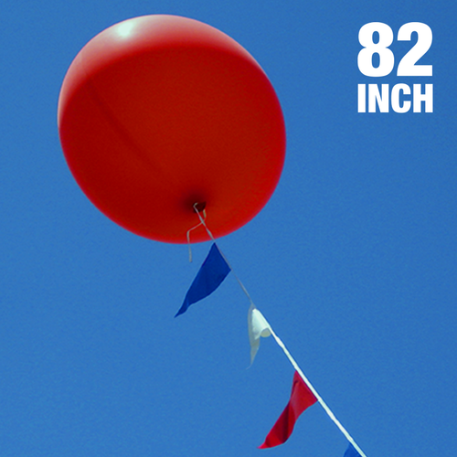 Giant Cloud Buster balloon with pennant string