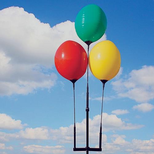 Reusable Balloon three balloon ground cluster