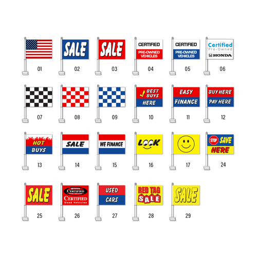 Stationary Car Flags