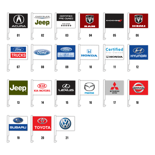 Car Brand Car Flags