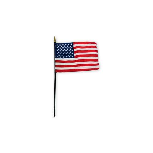"4"" x 6"" poly silk stick flag"
