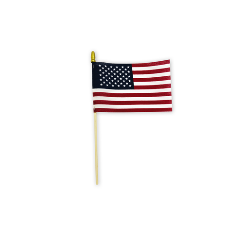 "4"" x 6"" cotton stick flag"