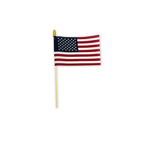 "4"" x 6"" cotton stick flag"
