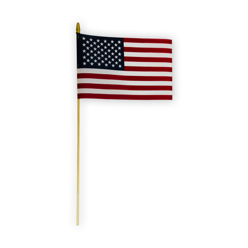 "8"" x 12"" cotton stick flag"