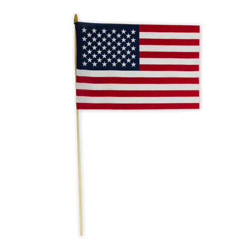 "12"" x 18"" cotton stick flag"