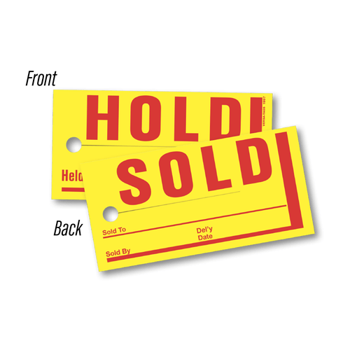 Jumbo Sold / Hold Tags