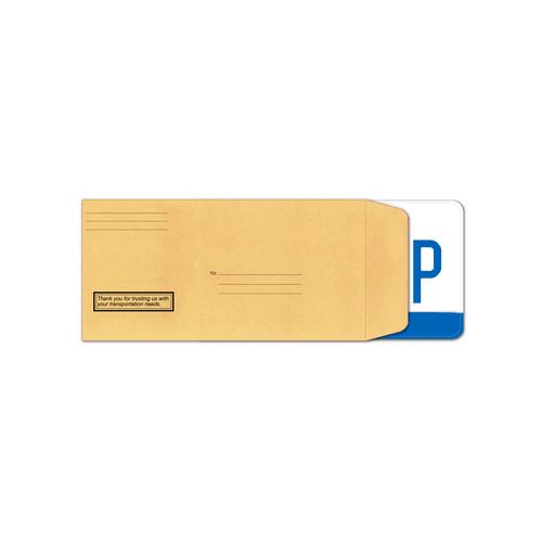 License Plate Envelope - Preprinted Moist Seal