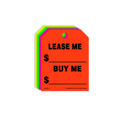 Lease Me/Buy Me Rear View Mirror Hang Tags