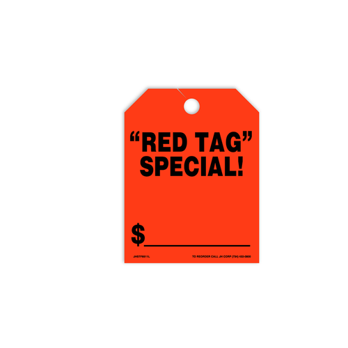 Red Tag Special Rear View Mirror Hang Tags
