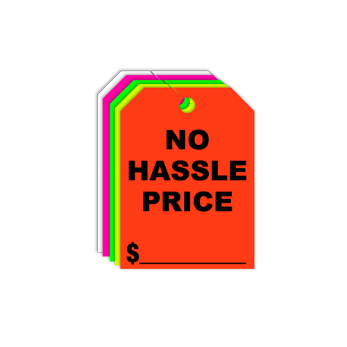 No Hassle Price Rear View Mirror Hang Tags