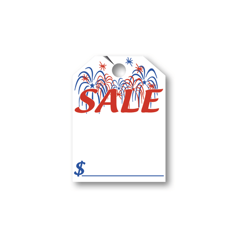 SALE with Fireworks hang tag