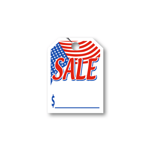 Sale American Flag hang tag