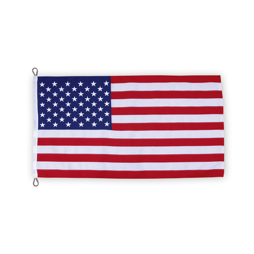 USA poly II flag with thimbles