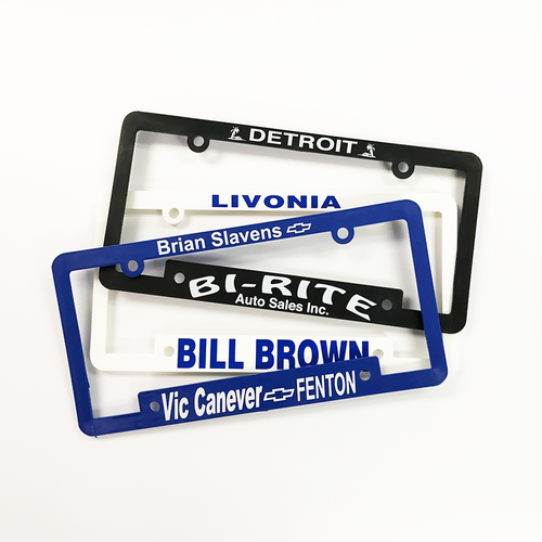 Silk Screened License Plate Frames
