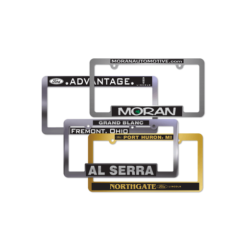 Gold & Silver Plated License Plate Frames