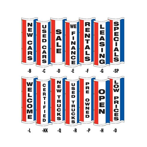 Double face vertical message tall flags