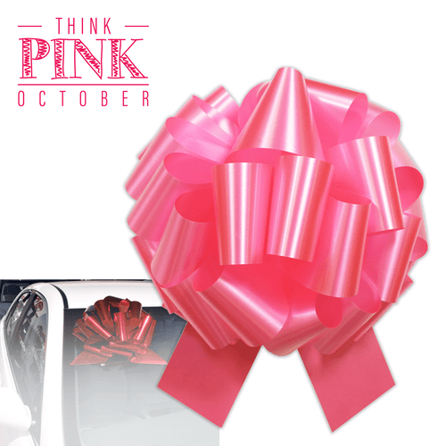 Pink windshield pull bow