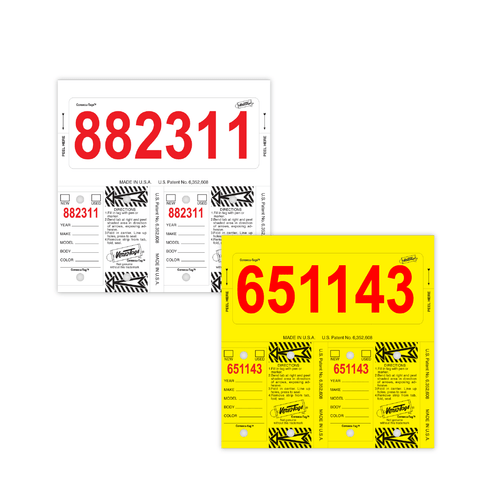 Consecu Tags with Red Numbers
