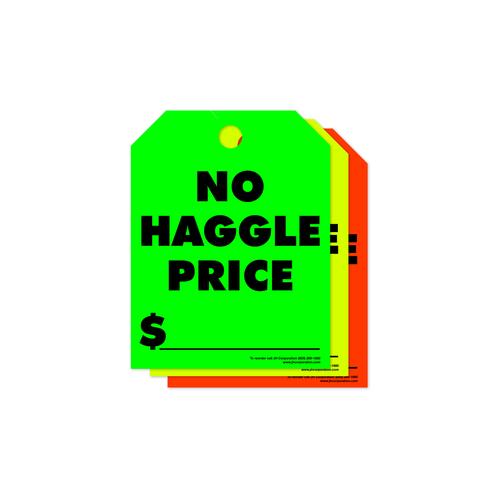 No Haggle Price Rear View Mirror Hang Tags