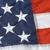 USA poly II  flag embroidered stars