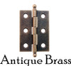Antique brass cabinet hinge