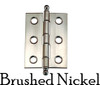 Brushed Nickel cabinet hinge