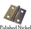 Nickel Butt Furniture Hinge w/ Removable Pin
