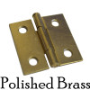 Brass Butt Furniture Hinge w/ Removable Pin