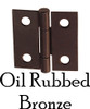 Oil Rubbed Bronze Butt Furniture Hinge w/ Removable Pin