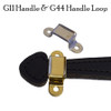 Black Trunk Handle with Spade Ends