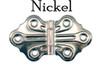 Nickel Embossed, Ornamental Hinge