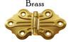 Brass Embossed, Ornamental Hinge