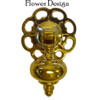 Large Pendant Furniture  Pull Large Flower  Backplate