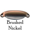 Brushed Nickel Slim Oval Bin Pull