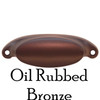 Oil Rubbed Bronze Slim Oval Bin Pull
