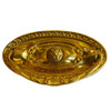 Brass Single Post Colonial Revival Pull - Oval