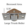 Antique Steamer Trunk Rollers