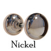 Nickel Antique Reproduction Solid Core Door Knobs