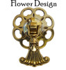 Tassel Pendant Pull with Large Flower Backplate