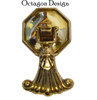 Tassel Pendant Pull with Octagon Backplate