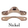 Nickel Narrow Window Lock Strike