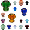 Hex Shaped Colored Glass Knobs