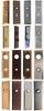 "8"" x 2"" Heavy Duty Door Knob Trim Plate in Brass, Niclek, Brushed Nickel or Oil Rubbed Bronze"