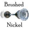 Brushed Nickel Fluted Glass Door Knob Se