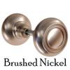Brushed Nickel Art Deco Style Door Knobs