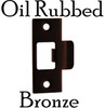 Oil Rubbed Bronze T Strike Plate for Door Latch